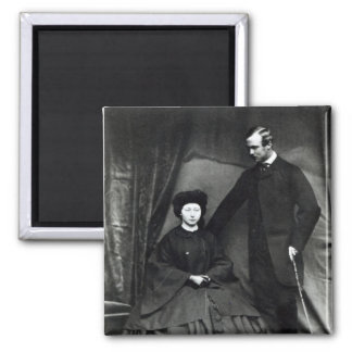 Princess Alice and Prince Ludwig of Hesse, 1860 2 Inch Square Magnet