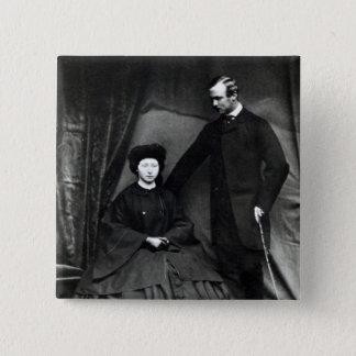 Princess Alice and Prince Ludwig of Hesse, 1860 Button