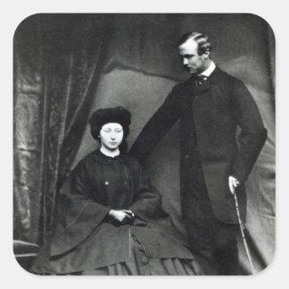 Princess Alice and Prince Ludwig of Hesse, 1860 Square Sticker