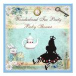 Princess Alice in Wonderland Baby Shower Tea Party Custom Invites
