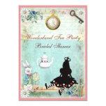 Princess Alice in Wonderland Bridal Shower Custom Announcement