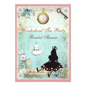 Princess Alice in Wonderland Bridal Shower 5x7 Paper Invitation Card