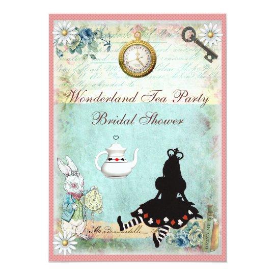 Princess Alice In Wonderland Bridal Shower Invitation