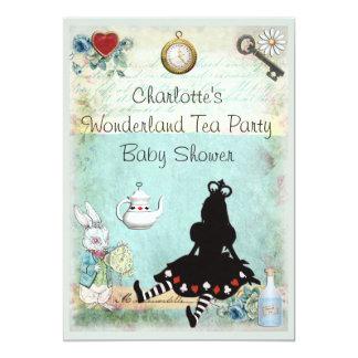 Princess Alice in Wonderland Tea Party Baby Shower Card