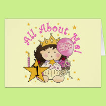 Princess All About Me 1st Birthday Tshirts Card