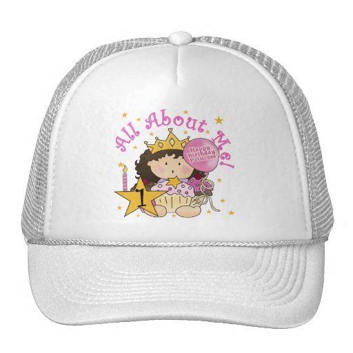 Princess All About Me 1st Birthday Tshirts Trucker Hat
