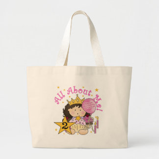 Princess All About Me 2nd Birthday Large Tote Bag
