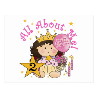 Princess All About Me 2nd Birthday Postcard