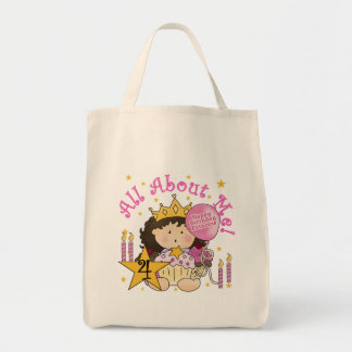 Princess All About Me 4th Birthday Tshirts Canvas Bags
