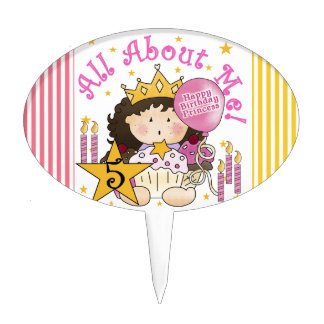 Princess All About Me 5th Birthday Cake Topper