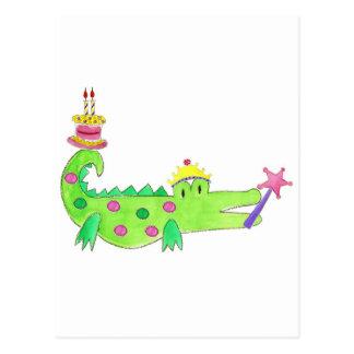 Princess Alligator Cake Postcard