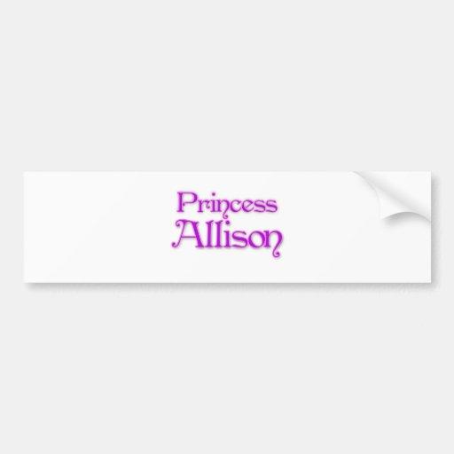 Princess Allison Car Bumper Sticker
