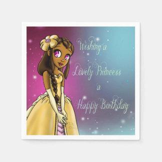 """Princess Amariah Birthday Paper Napkins"" Napkin"