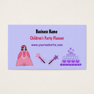 Princess and Cake Children's Party Planner Business Card
