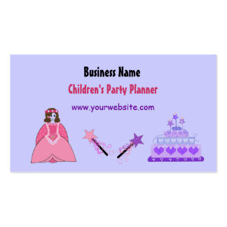 Princess and Cake Children's Party Planner Double-Sided Standard Business Cards (Pack Of 100)