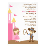 Princess and Cowboy Invitation Custom Announcement