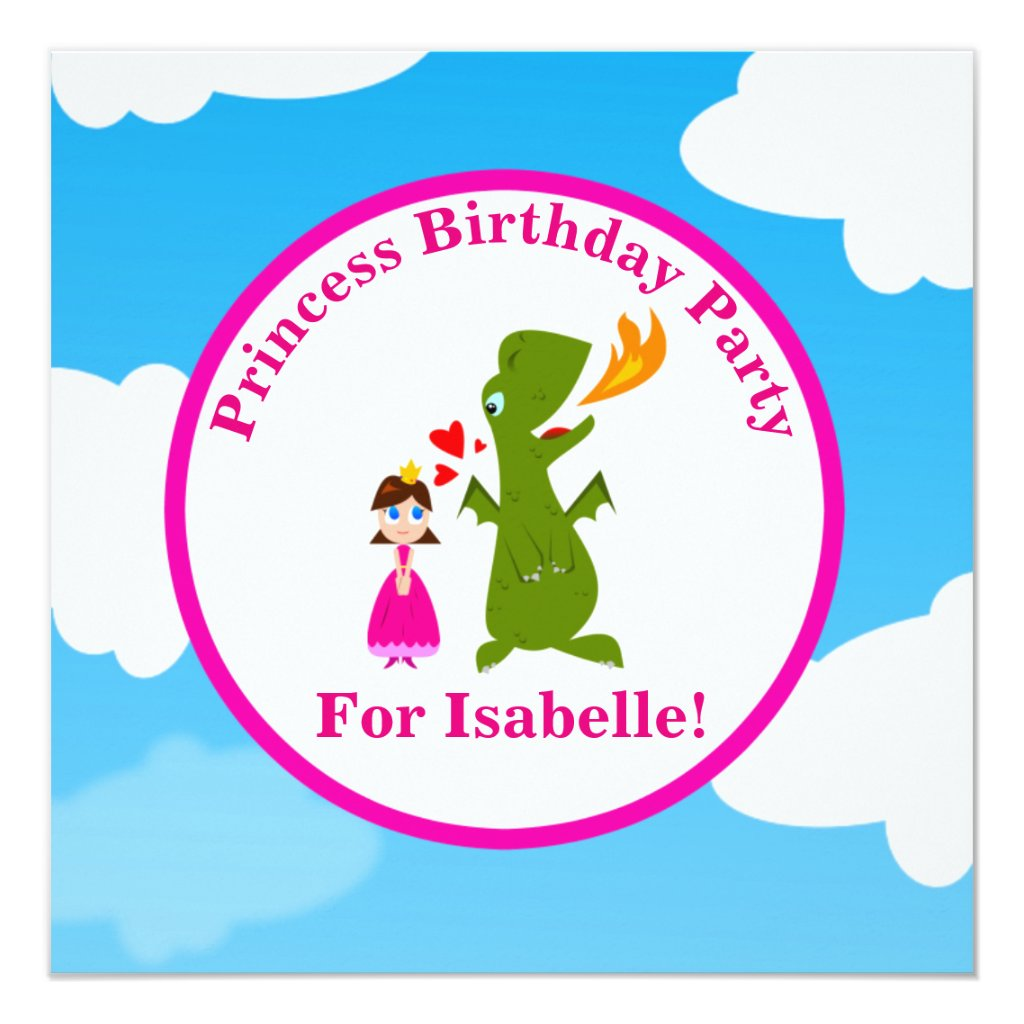 Princess and Dragon Fairy Tale Birthday Party