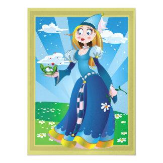 Princess and Frog Valentine or Anti Valentine 5.5x7.5 Paper Invitation Card