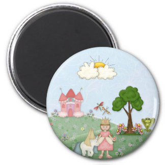 Princess and her castle fridge magnets