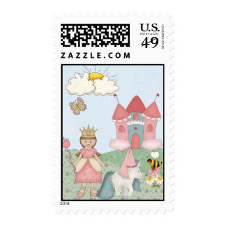 Princess and her Castle   Postage Stamps