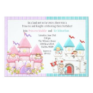 Princess and Knight Birthday Party Invitation