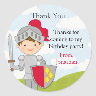 Princess and Knight Birthday Party Sticker
