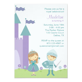 Princess and Knight Invitations 5