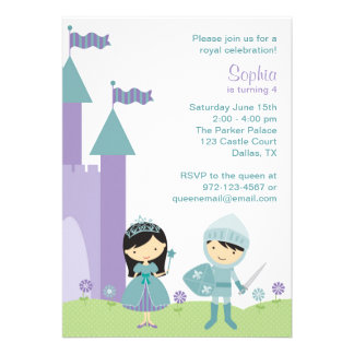 Princess and Knight Invitations Custom Announcements