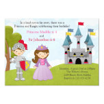 Princess and Knight Joint Birthday Party Card