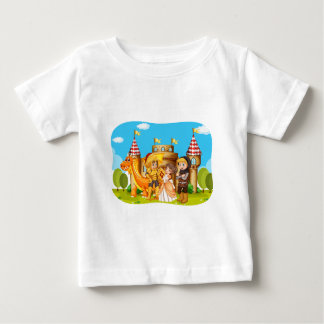 Princess and knights standing in front of the cast baby T-Shirt