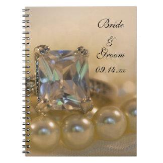 Princess and Pearls Wedding Spiral Notebook