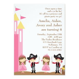 Princess and Pirate Invitation