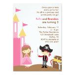 """Princess and Pirate Invitation 5"""" X 7"""" Invitation Card"""