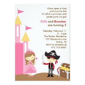 Princess and Pirate Invitation 5