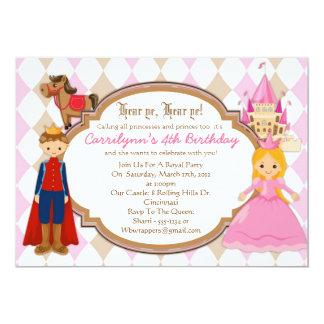 Princess and Prince - Birthday Party Invitations