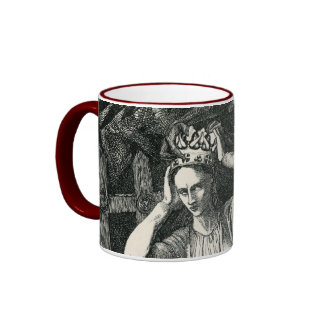 Princess and the Dark Angel Ringer Mug