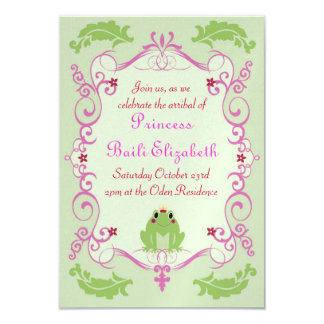 Princess and the Frog 3.5x5 Paper Invitation Card
