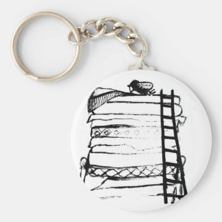 Princess and the pea basic round button keychain