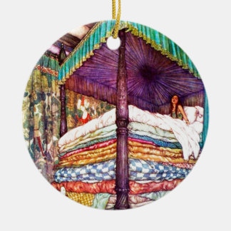 Princess and the Pea Ceramic Ornament
