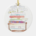 princess and the pea Double-Sided ceramic round christmas ornament