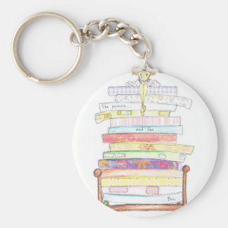 princess and the pea key chains