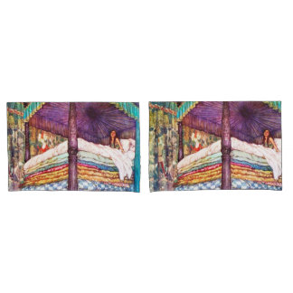 Princess and the Pea Pillow Cases Pair