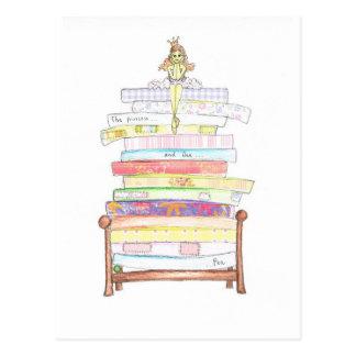 princess and the pea postcard