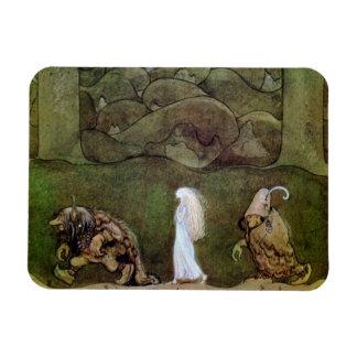 Princess and Trolls Walk Through Forest Magnet