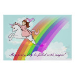 Princess and Unicorn Poster