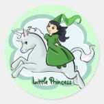 Princess and Unicorn Sticker