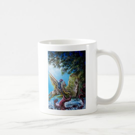 PRINCESS ANGELICA ,KNIGHT AND SEA DRAGON COFFEE MUG