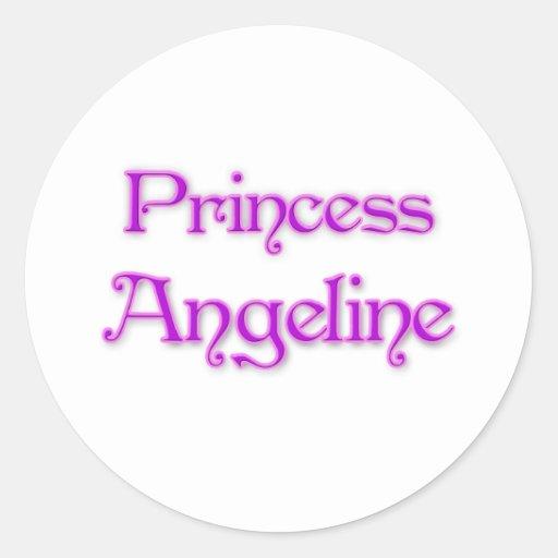 Princess Angeline Round Sticker
