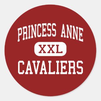 Princess Anne - Cavaliers - High - Virginia Beach Round Sticker
