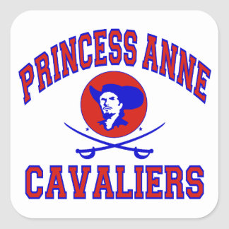 Princess Anne Cavaliers Square Sticker